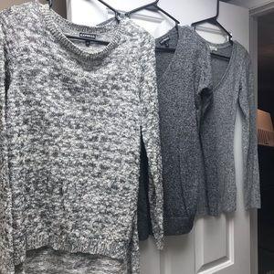 3 Express sweaters, size XS
